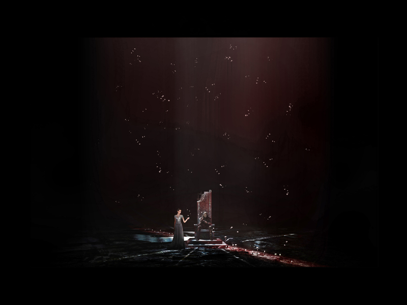 IL CASTELLO DEL DUCA BARBABLÙ <br> Apertura IV porta: Il giardino<br> La quarta porta si apre, svelando una pioggia di petali di luce, nei cui riflessi echeggia il purpureo sanguigno.