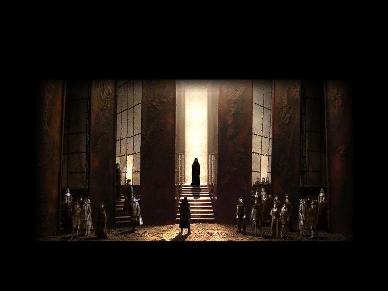 MACBETH<br>  Atto II scena 4: Invisibile a tutti i presenti, appare a Macbeth il fantasma di Banco