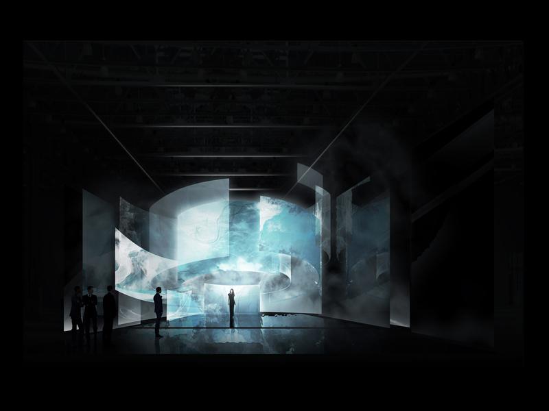 SUONO JOYCE <br> Installazione / Spazio sonoro Studio Luci e Video